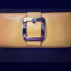 Michael Kors yellow clutch